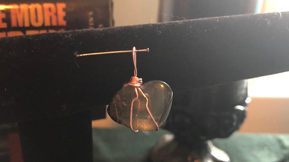 Smoky Quartz Wire-Wrapped Pendant