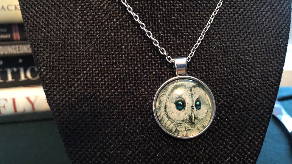 Snowy Owl Necklace with Chain