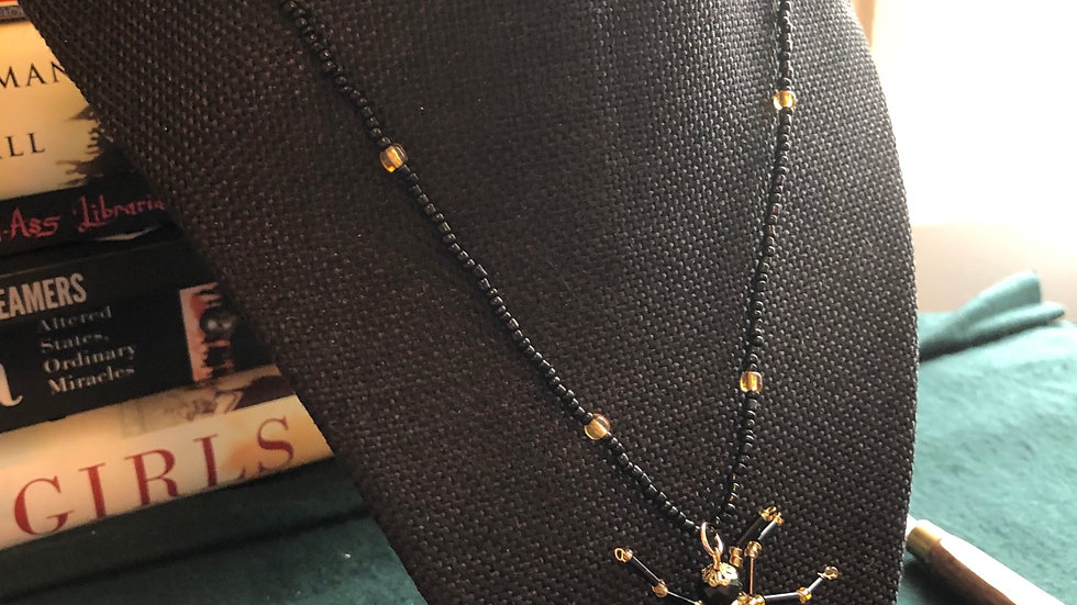 Handbeaded Spider Necklace