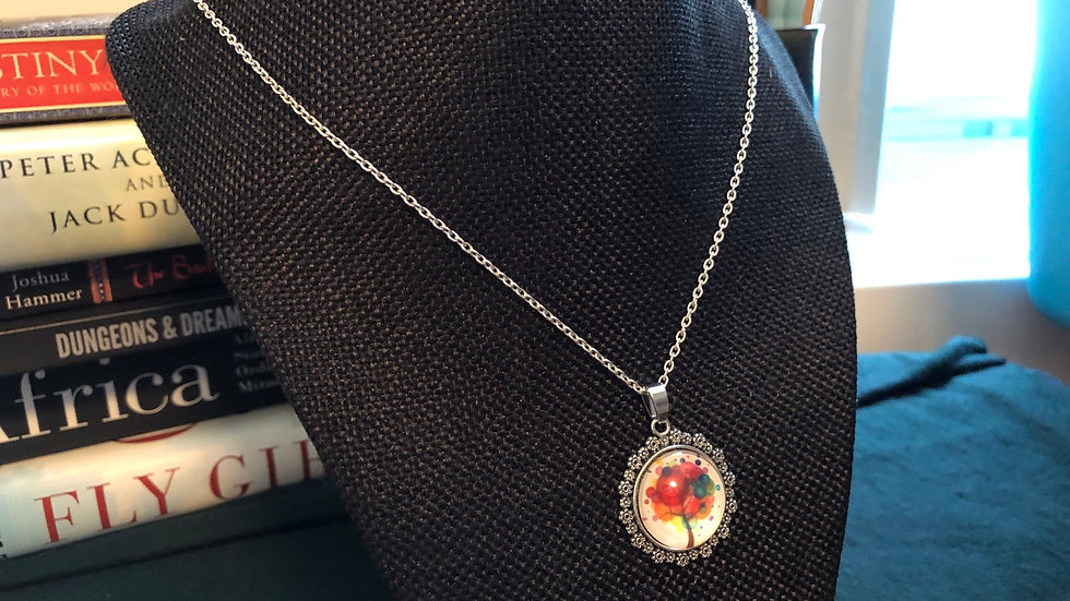 Autumn Tree Necklace with Chain