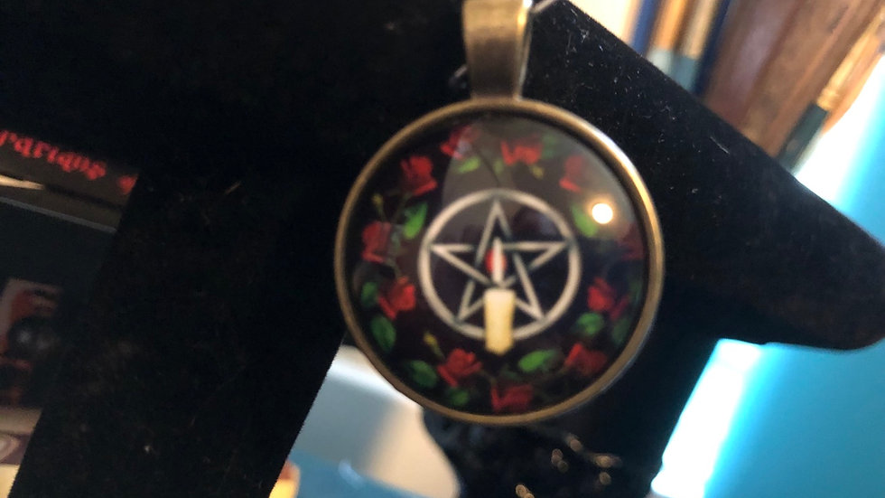 Candle Pentagram Charm