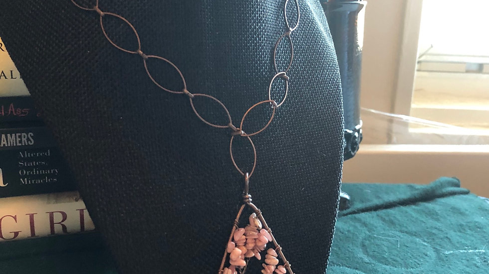 Rhodochrosite Tree of Life Necklace