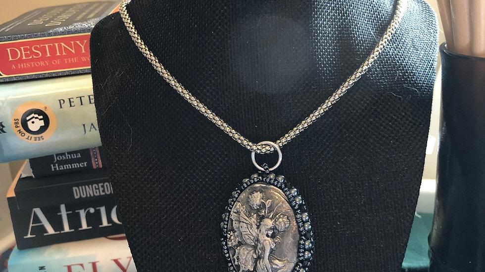 Beaded Clay Fairie Necklace