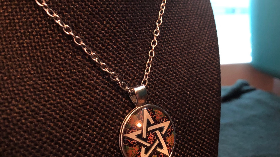 Fall Pentagram Necklace with Chain