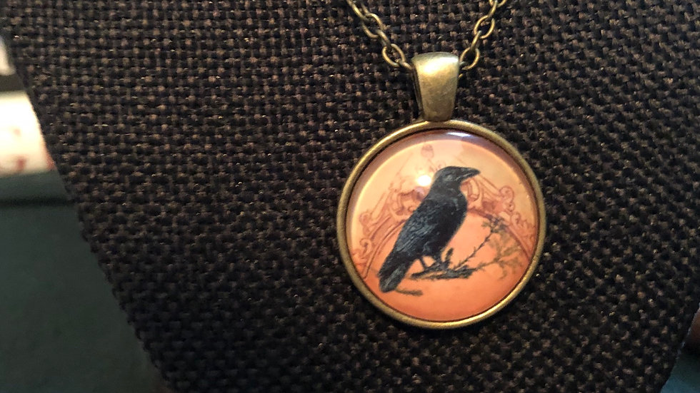 Crow Necklace with Chain