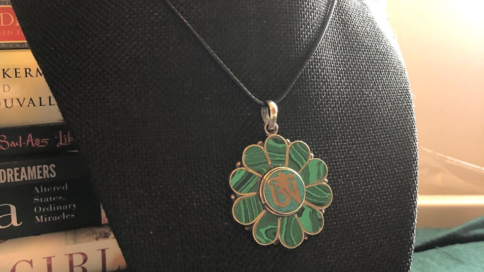Malachite Ohm Symbol Necklace