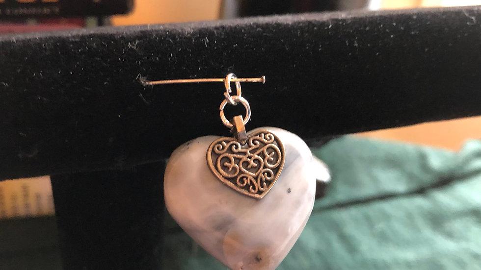 Ocean Jasper Heart Pendant