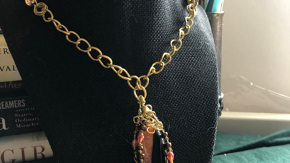 Corded Fire Agate Necklace