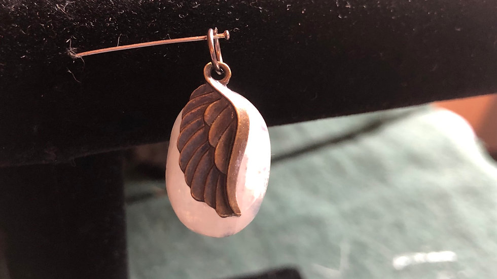 Moonstone Wing Pendant