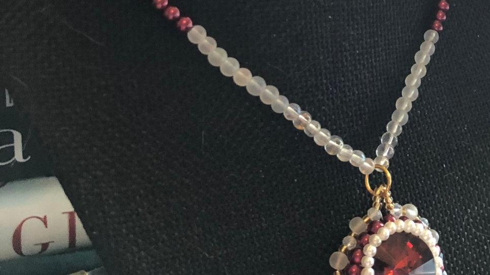 Red Swarovski Crystal Necklace