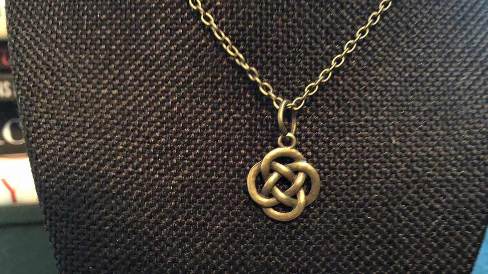 Celtic Knot Necklace with Chain