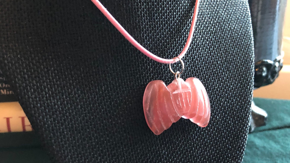 Cherry Quartz Bat Necklace