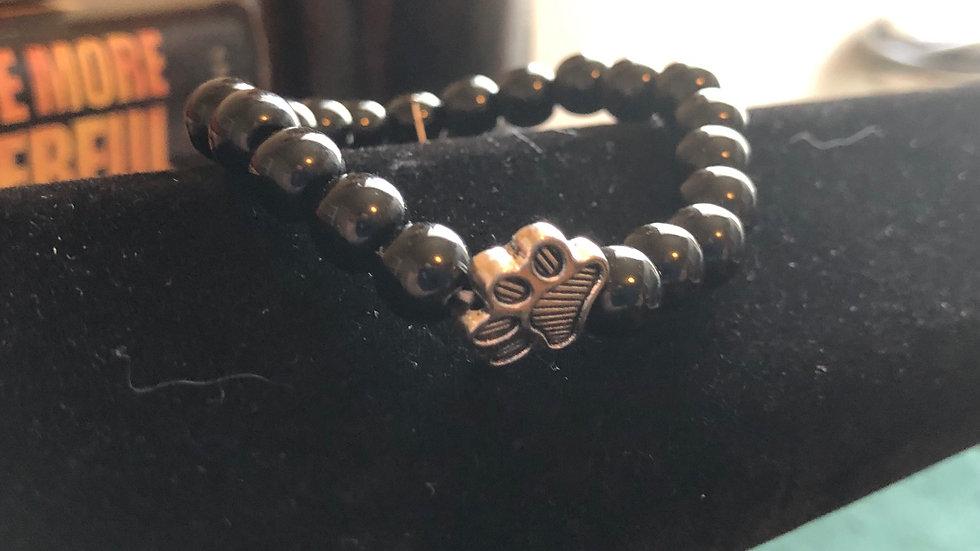 Black Plastic Beaded Pet Bracelet