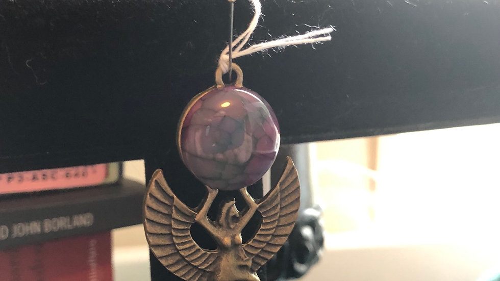 Dyed Agate Isis Pendant