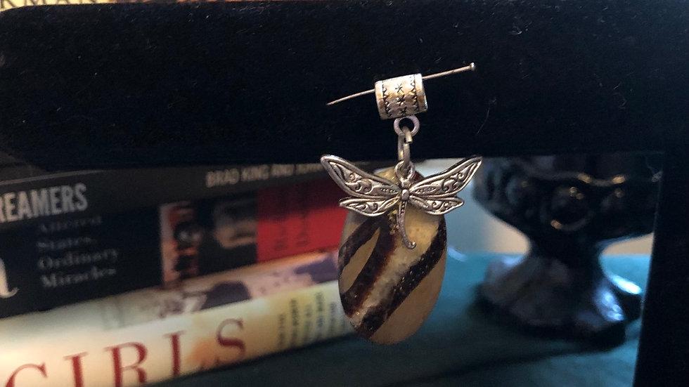 Seraphinite Dragonfly Pendant