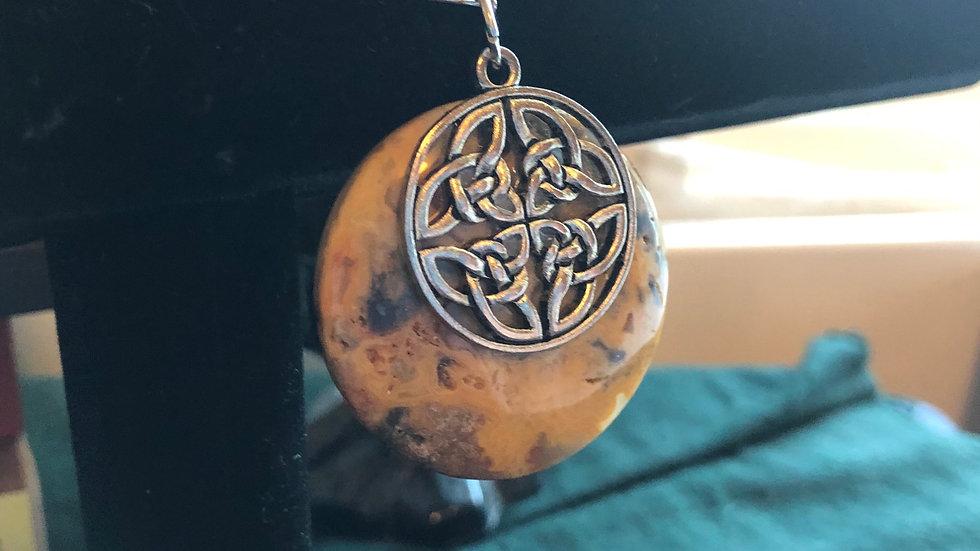 Ocean Jasper Celtic Pendant