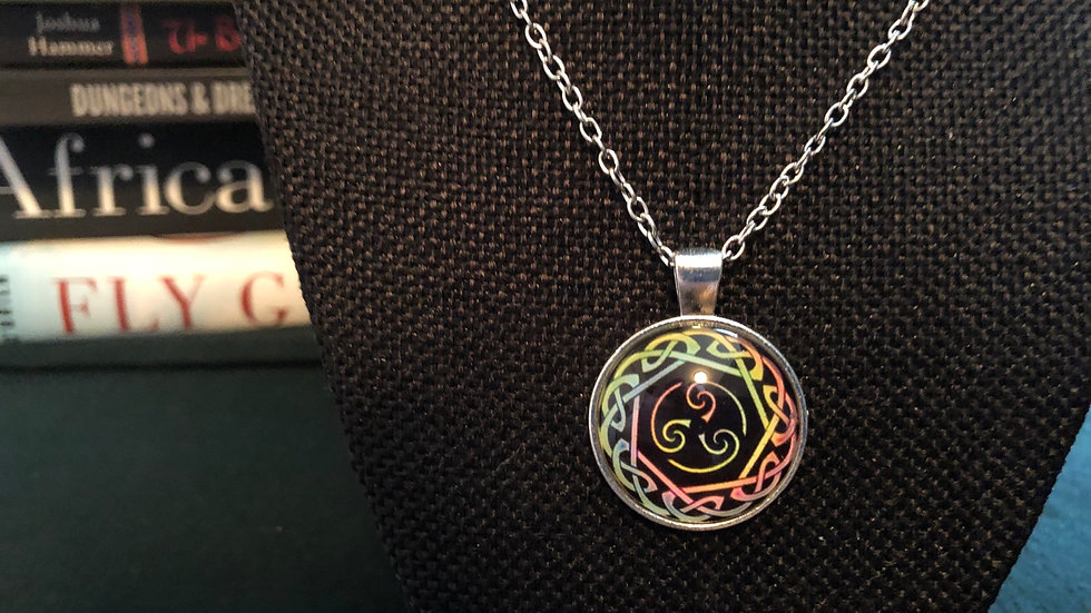 Neon Celtic Necklace with Chain