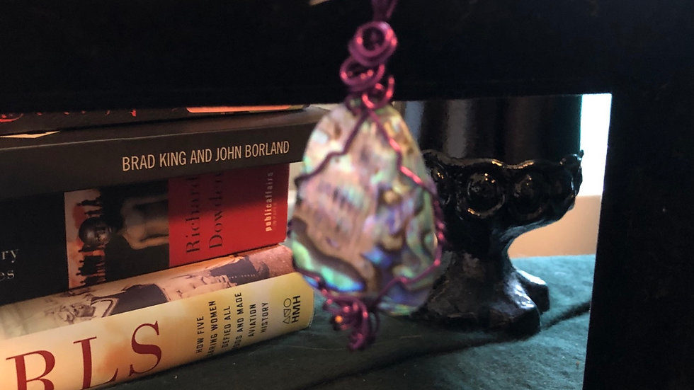 Abalone Shell Hand Wrapped Pendant