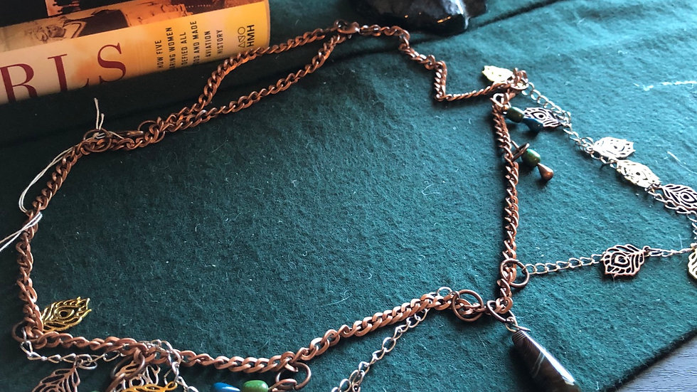 Leaf Chainmail Necklace