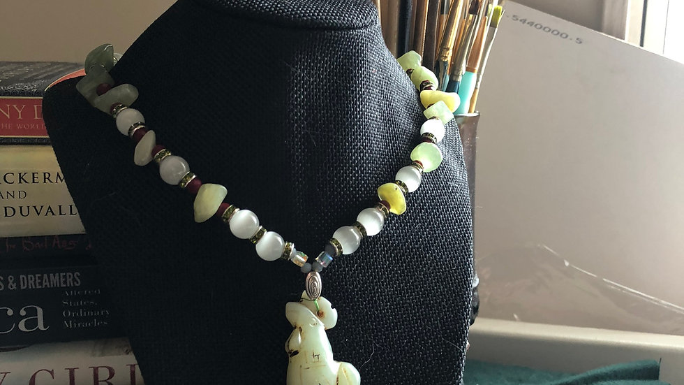 Jade Rooster Necklace