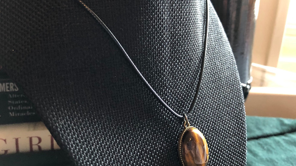 Tigerseye Pendant Necklace