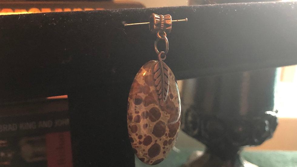 Birdseye Jasper Leaf Pendant