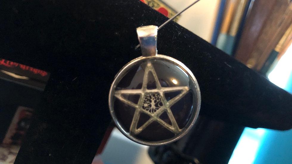 Black Backed Pentagram Charm