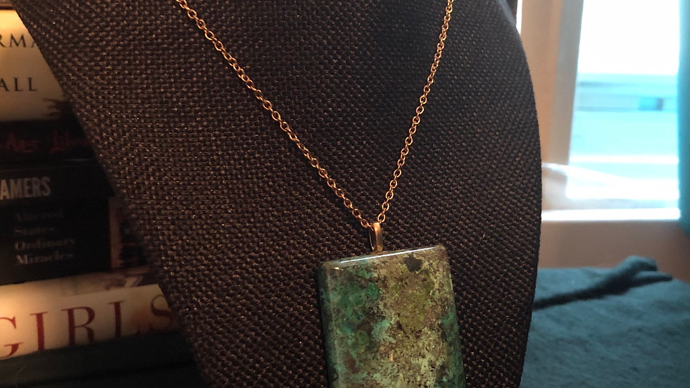 Chrysocolla Necklace with Chain