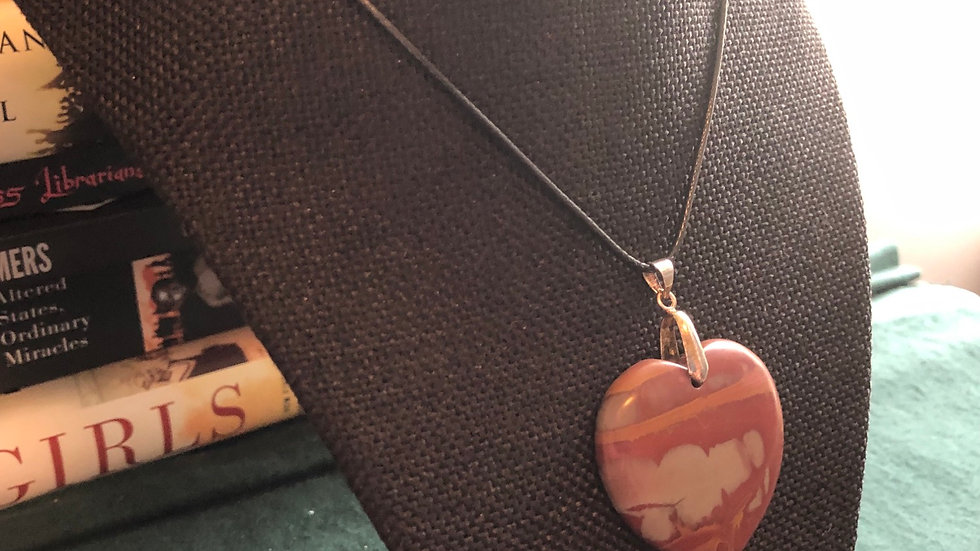 Red Jasper Pendant Necklace