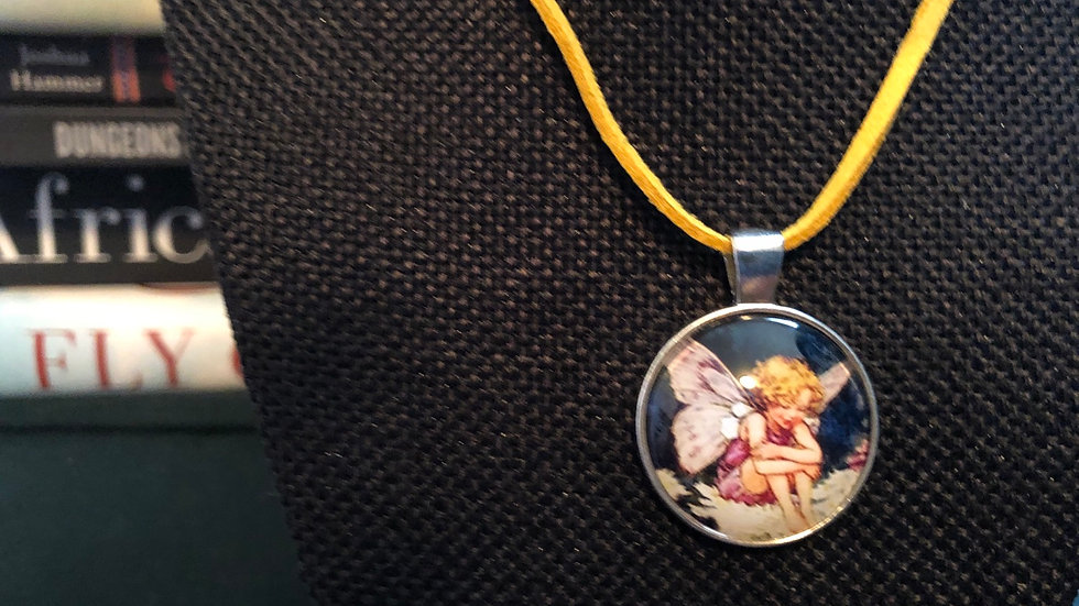 Fairy Necklace with Yellow Cord