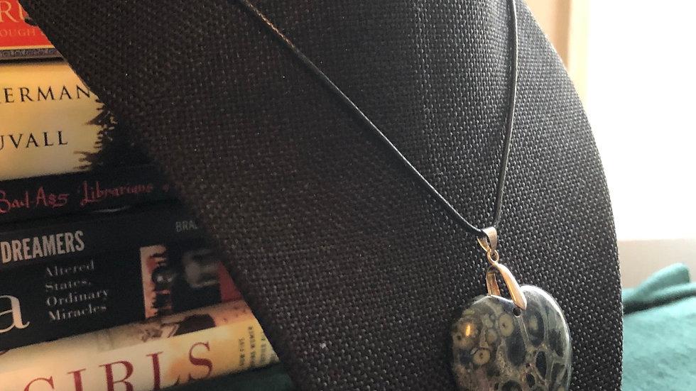 Kambaba Jasper Heart Necklace
