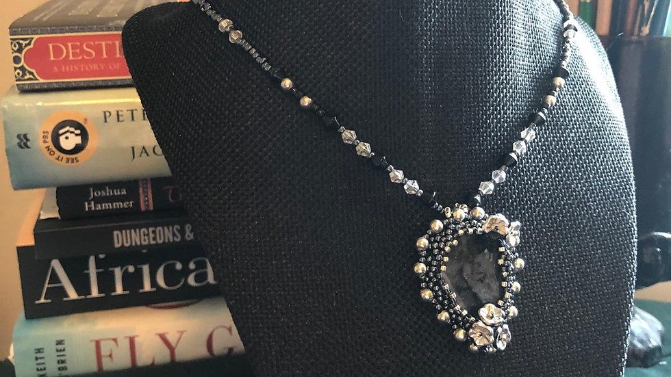 Indigo Gabbro Crocheted Necklace
