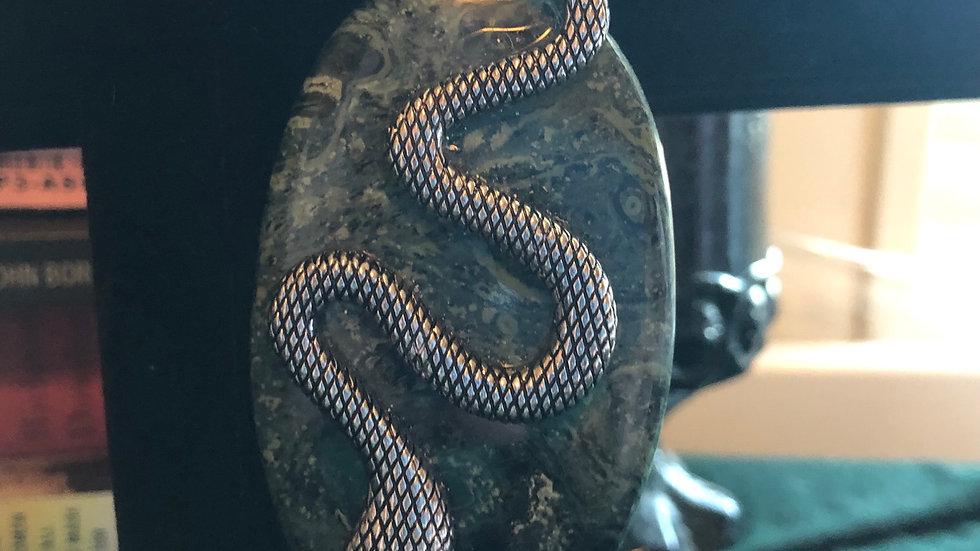 Kambaba Jasper Snake Pendant