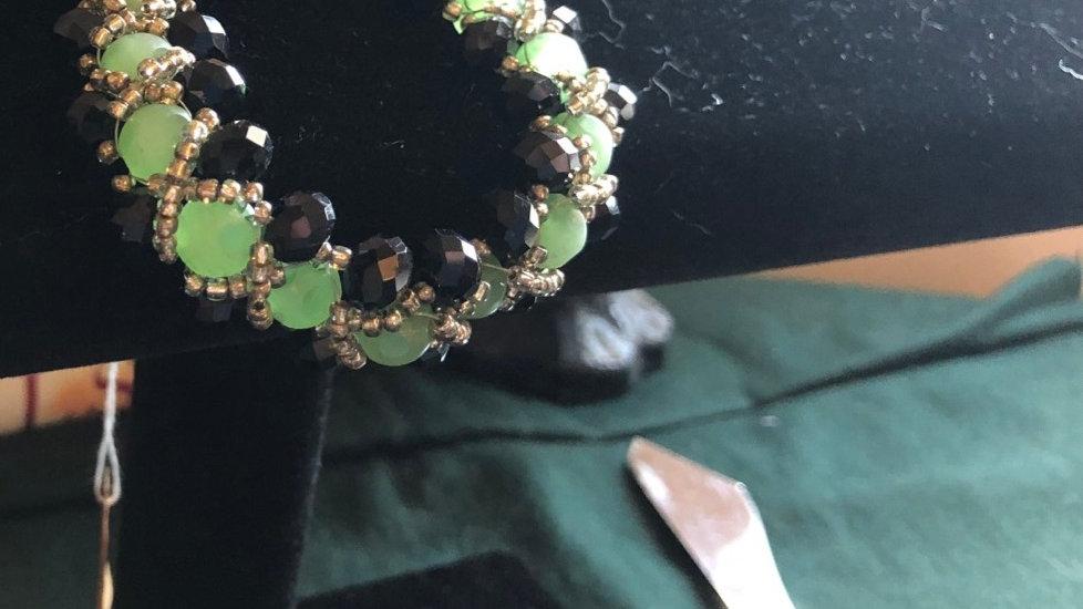 Crocheted Beaded Bracelet