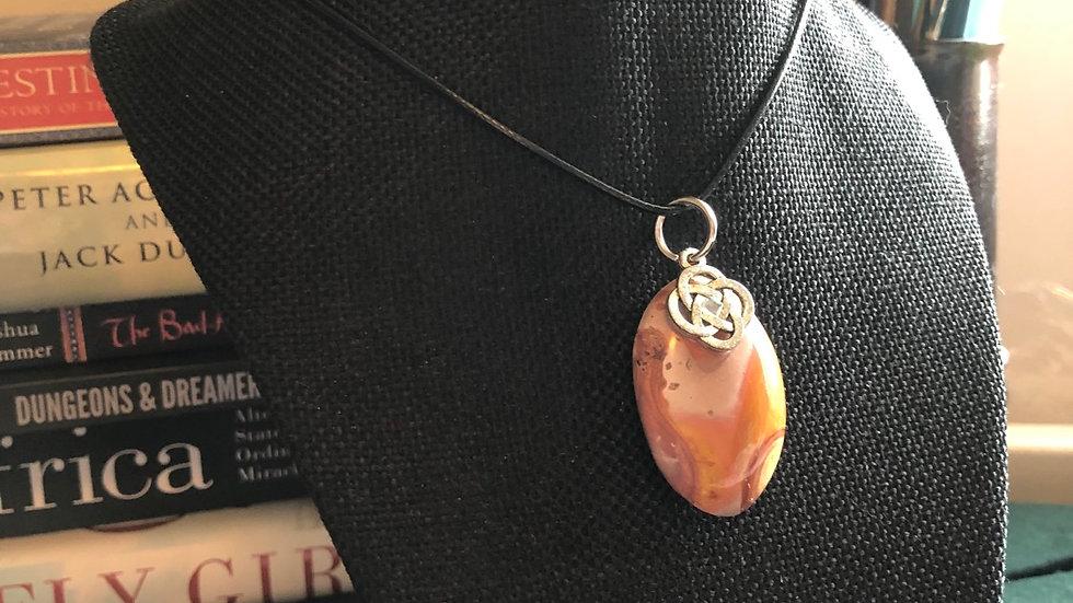 Polychrome Jasper with Silver Celtic Knot