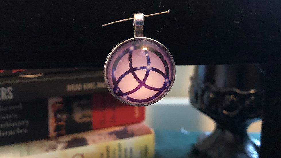 Purple Celtic Knot Pendant