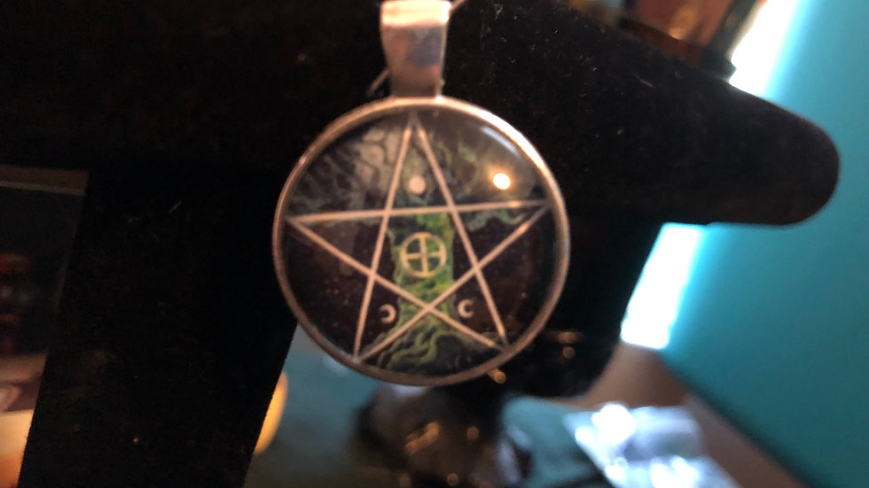 Tree of Life Pentagram Charm
