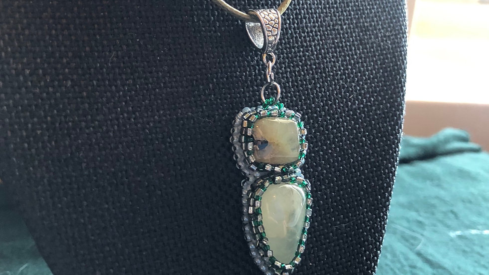 Beaded Prehenite Necklace