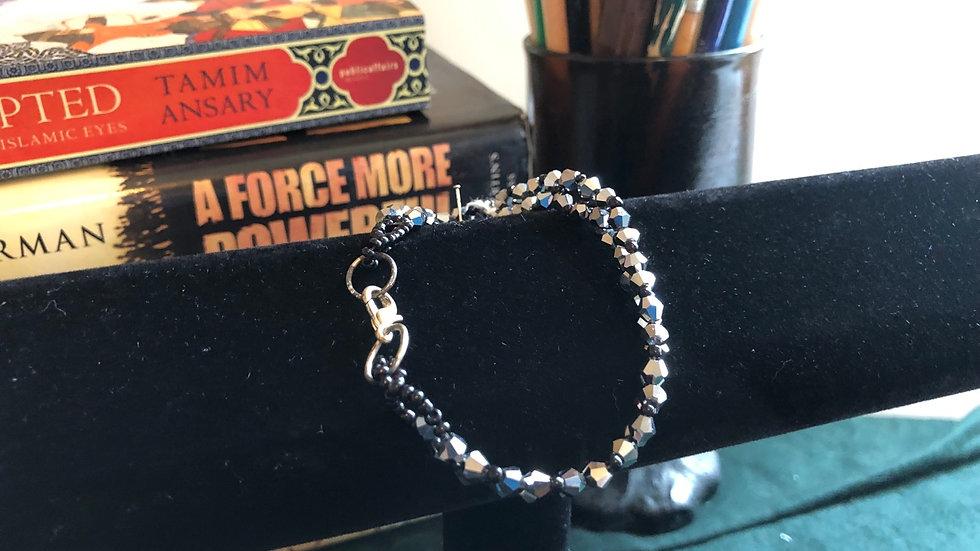 Woven Silver Kid's Bracelet