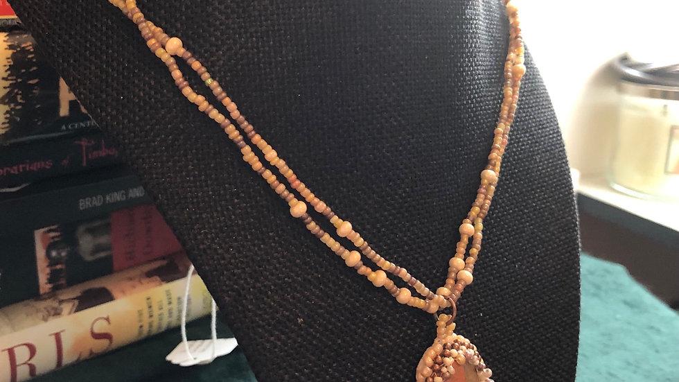 Handbeaded Unakite Necklace