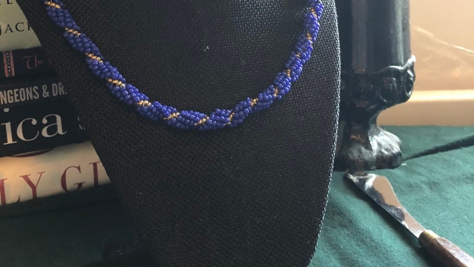 Hand-Beaded Rope Necklace