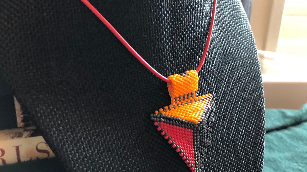Projectile Beaded Necklace