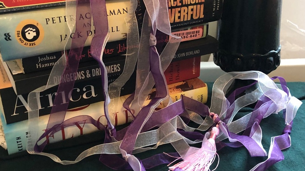 Purple and Silver Handfasting Cords