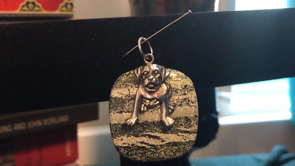 Swiss Opal Dog Charm