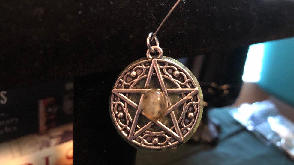 Zoisite and Labradorite Pentagram Charm