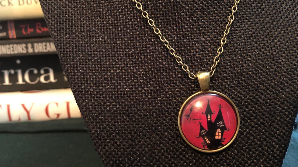 Haunted House Necklace with Chain