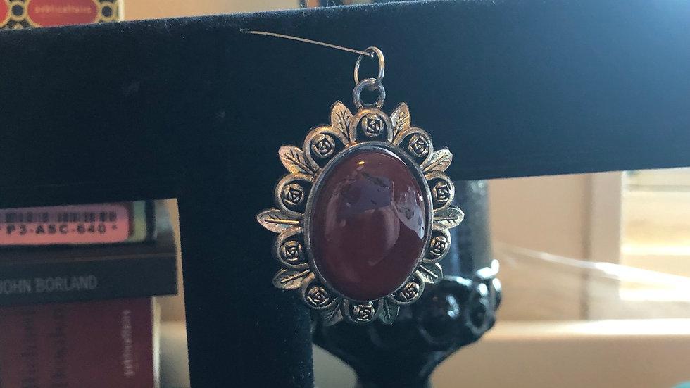 Red Jasper Silver Pendant