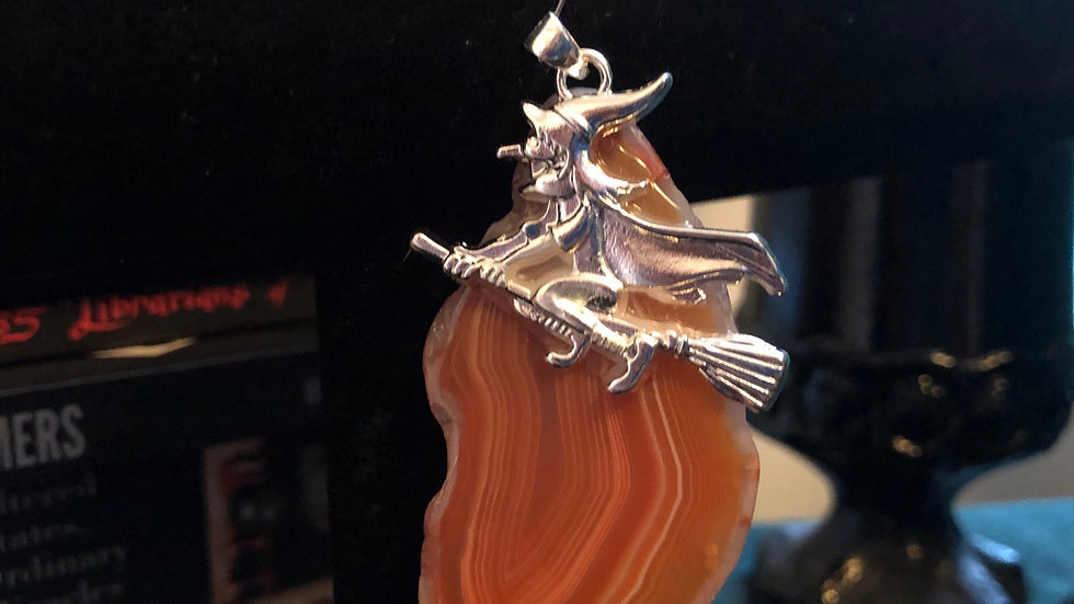 Agate Witch Pendant
