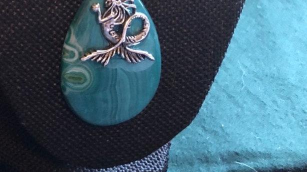 Mermaid on Dyed Agate