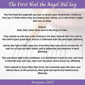 The First Noel the Angel Did Say